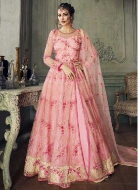 Trendy Long Length Anarkali Suit For Festival