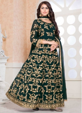 Trendy Long Length Anarkali Suit For Festival