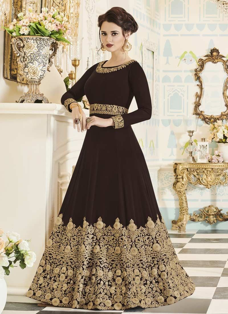 Trendy Long Length Anarkali Suit For Party