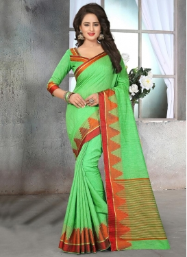 Trendy Resham Work Cotton Silk Trendy Saree For Ceremonial