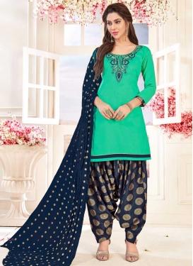 Trendy Semi Patiala Suit For Casual