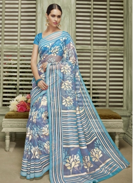 Trendy Thread Work Traditional Saree