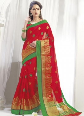 Tussar Silk Contemporary Saree