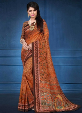 Tussar Silk Contemporary Saree For Ceremonial