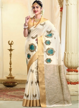 Tussar Silk Contemporary Style Saree