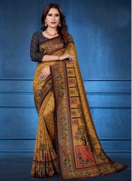 Tussar Silk Contemporary Style Saree
