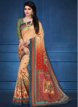 Tussar Silk Designer Contemporary Style Saree For Ceremonial