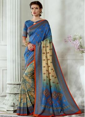Tussar Silk Half N Half Trendy Saree