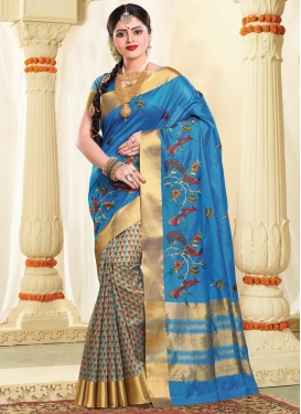 Tussar Silk Half N Half Trendy Saree For Ceremonial