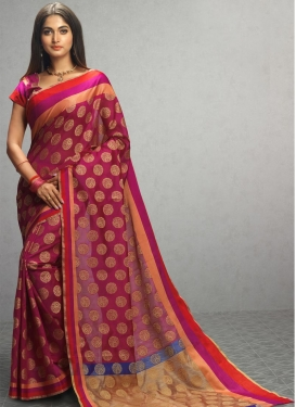 Tussar Silk Thread Work Trendy Saree