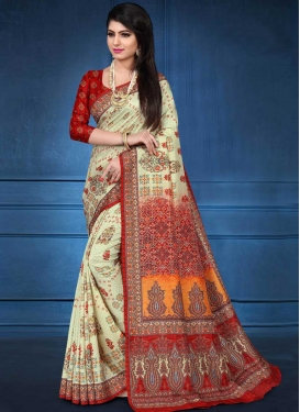 Tussar Silk Traditional Designer Saree