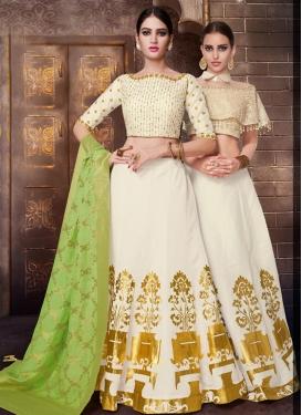 Tussar Silk Trendy Lehenga Choli