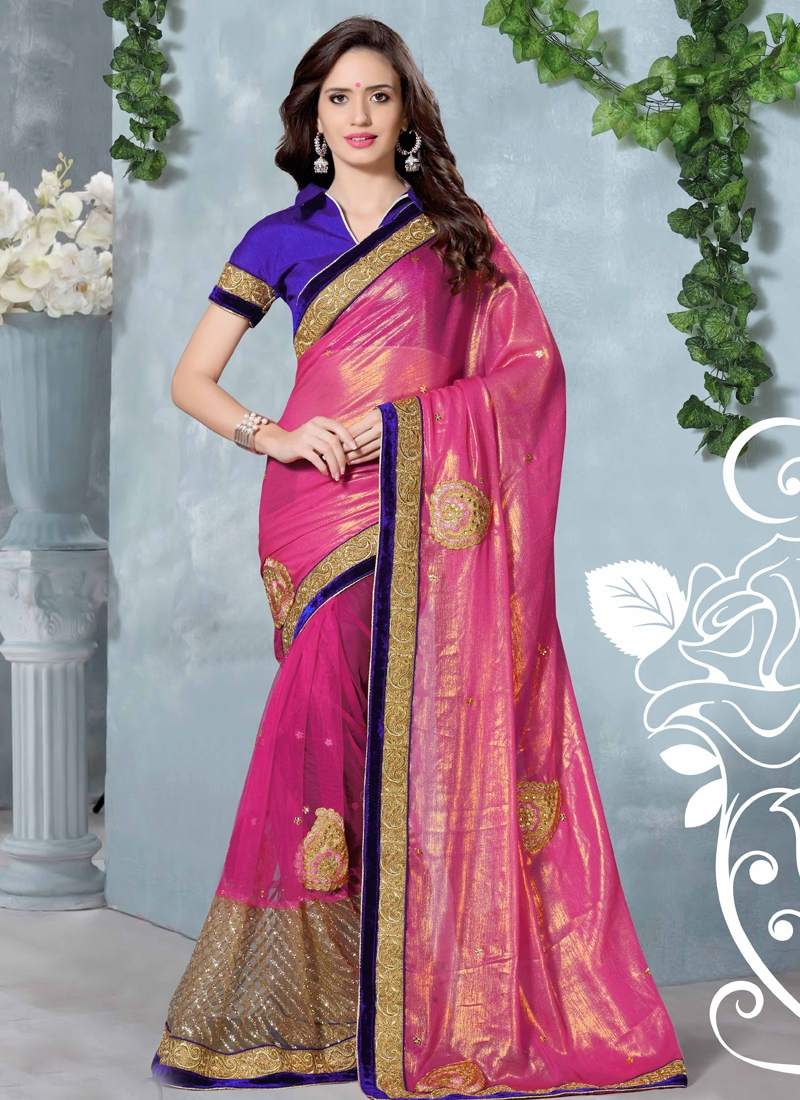 Unique Booti Work Designer Saree
