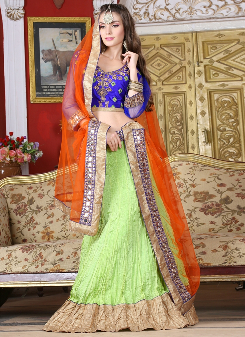 Urbane Art Raw Silk Party Wear Lehenga Choli