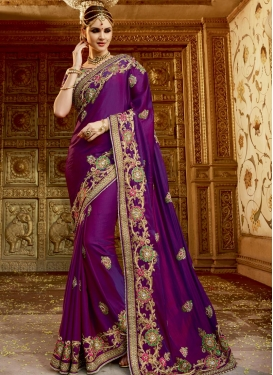 Urbane Beads Work Traditional Saree