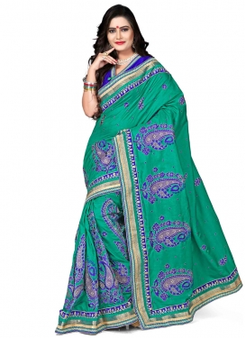 Urbane Booti Work Silk Designer Saree