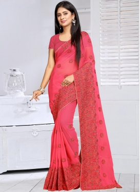 Urbane  Faux Georgette Contemporary Style Saree For Ceremonial