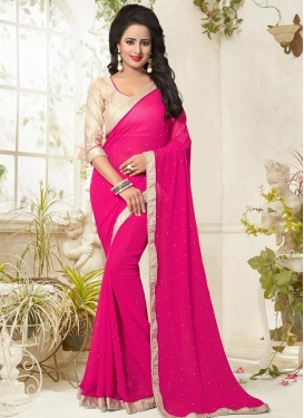 Urbane Faux Georgette Trendy Saree