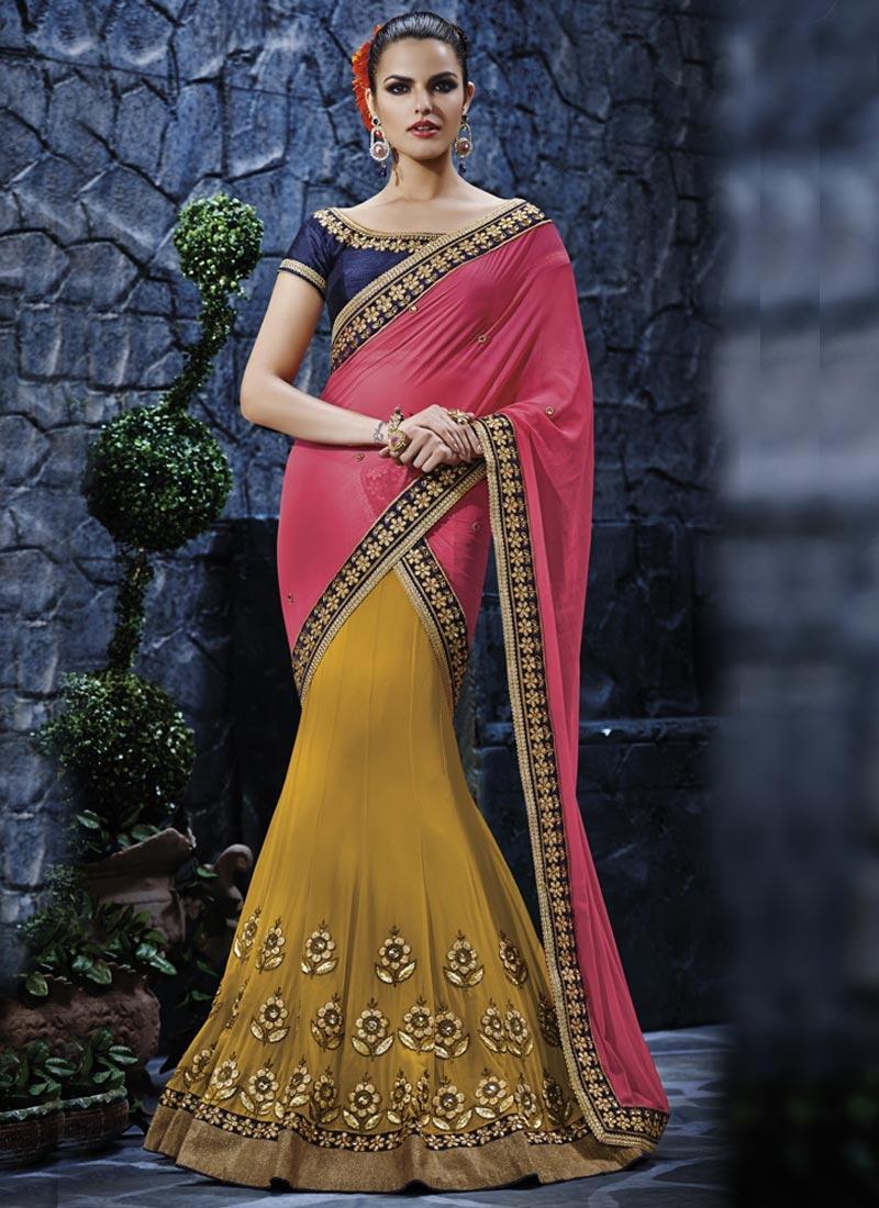 Urbane Lace Work Designer Lehenga Saree
