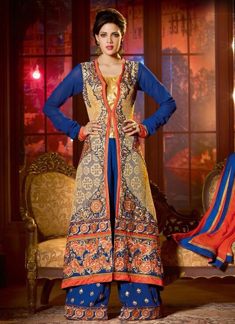 Urbane Multi And Resham Work Designer Salwar Kameez