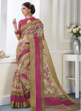 Urbane  Print Work Trendy Saree For Casual