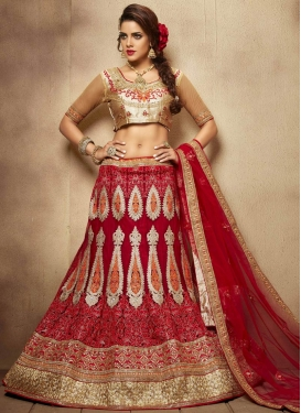 Vehemently Booti And Sequins Work Bridal Lehenga Choli