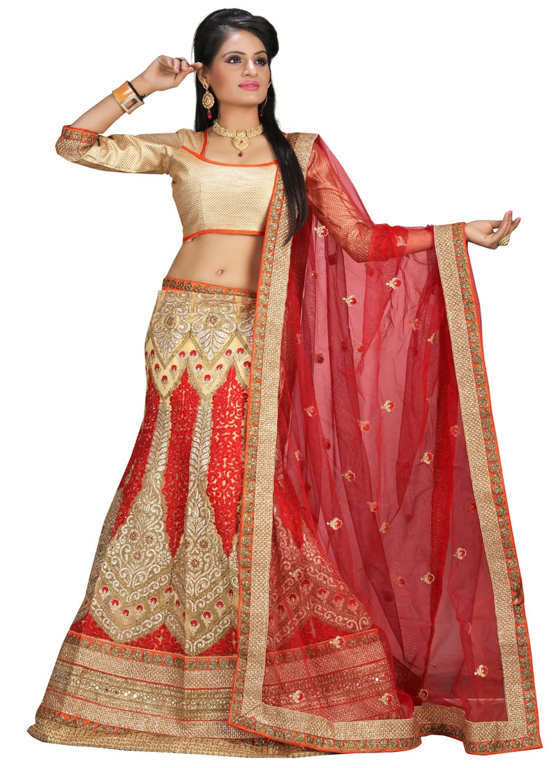 Vehemently Booti And Stone Work Bridal Lehenga Choli