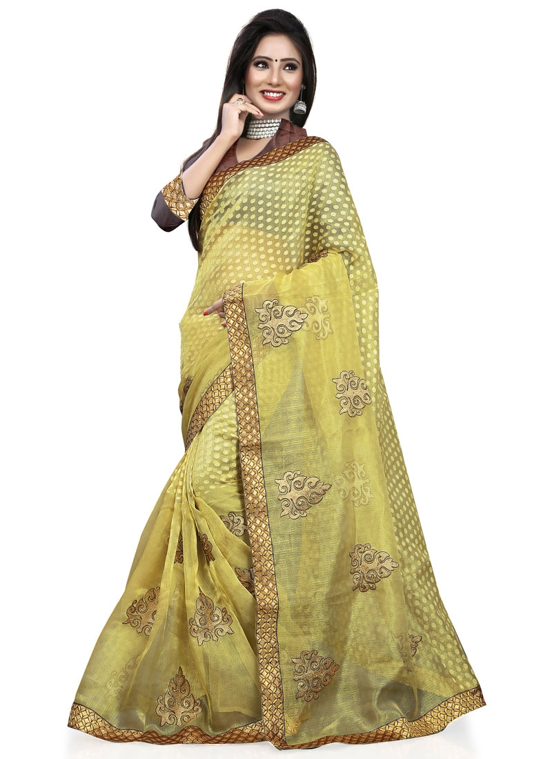 Vehemently Booti And Stone Work Casual Saree