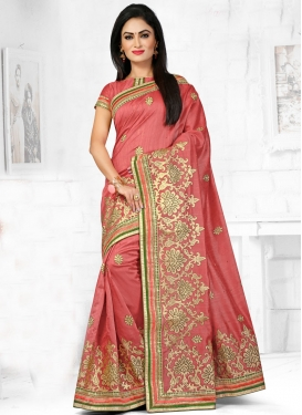 Vehemently Embroidery And Stone Work Designer Saree