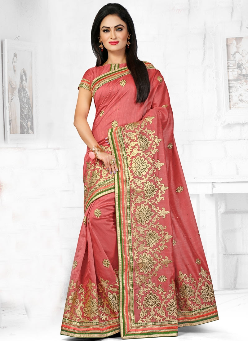 Vehemently Embroidery And Stone Work Designer Saree
