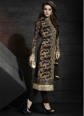 Vehemently Faux Georgette Designer Salwar Kameez