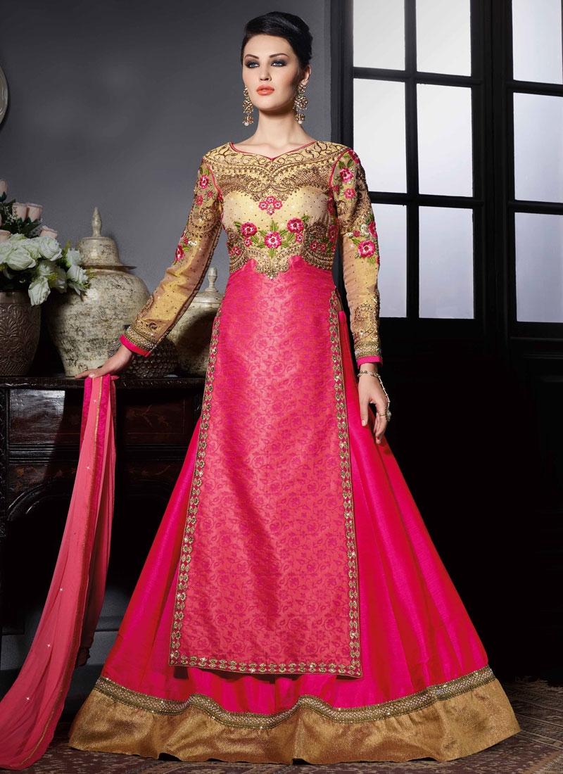 Vehemently Floral Work Kameez Style Designer Lehenga Choli