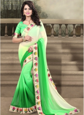 Vehemently Lace And Resham Work Party Wear Saree