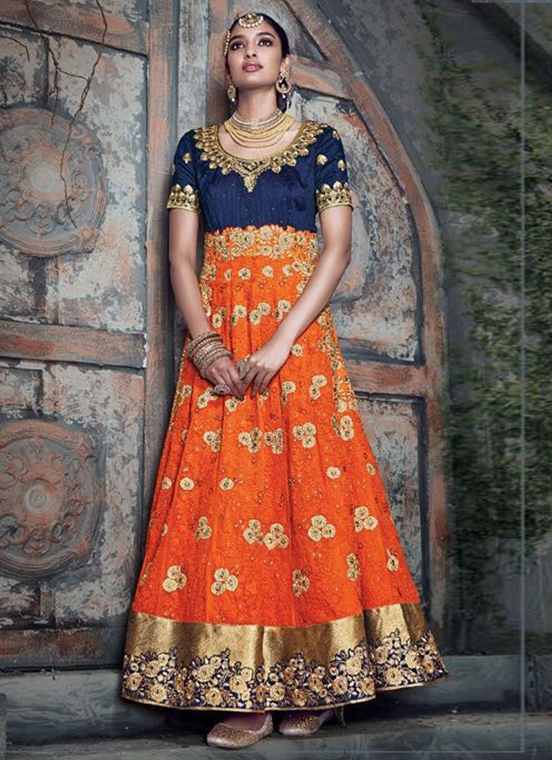 Vehemently Patch Dorder And Stone Work Ankle Length Wedding Suit