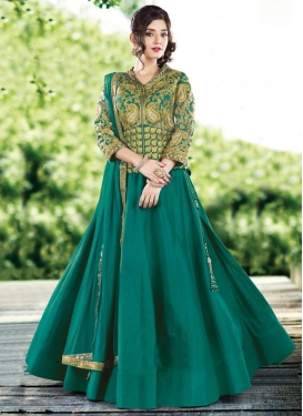 Vehemently Raw Silk Long Choli Lehenga