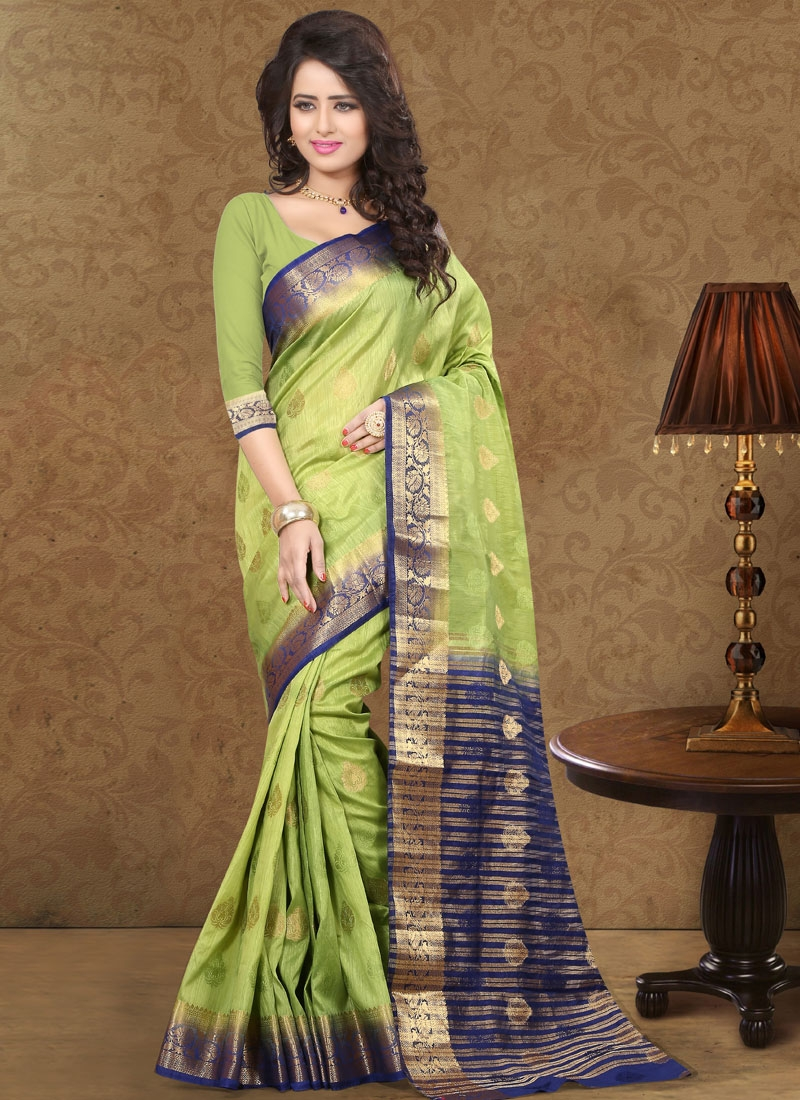 Vehemently Resham Work Art Silk Party Wear Saree