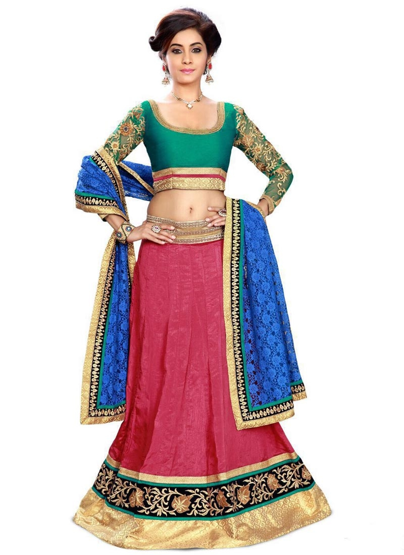 Vehemently Silk Resham Work Designer Lehenga Choli