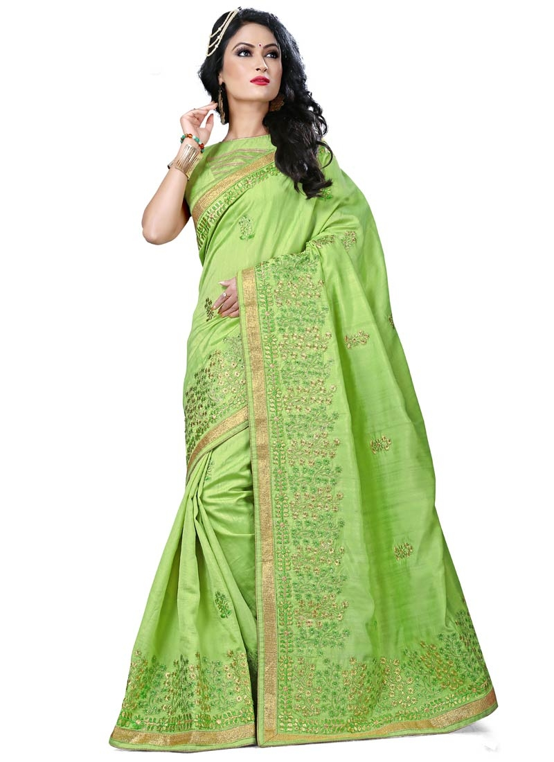 Vehemently Stone Work Designer Saree