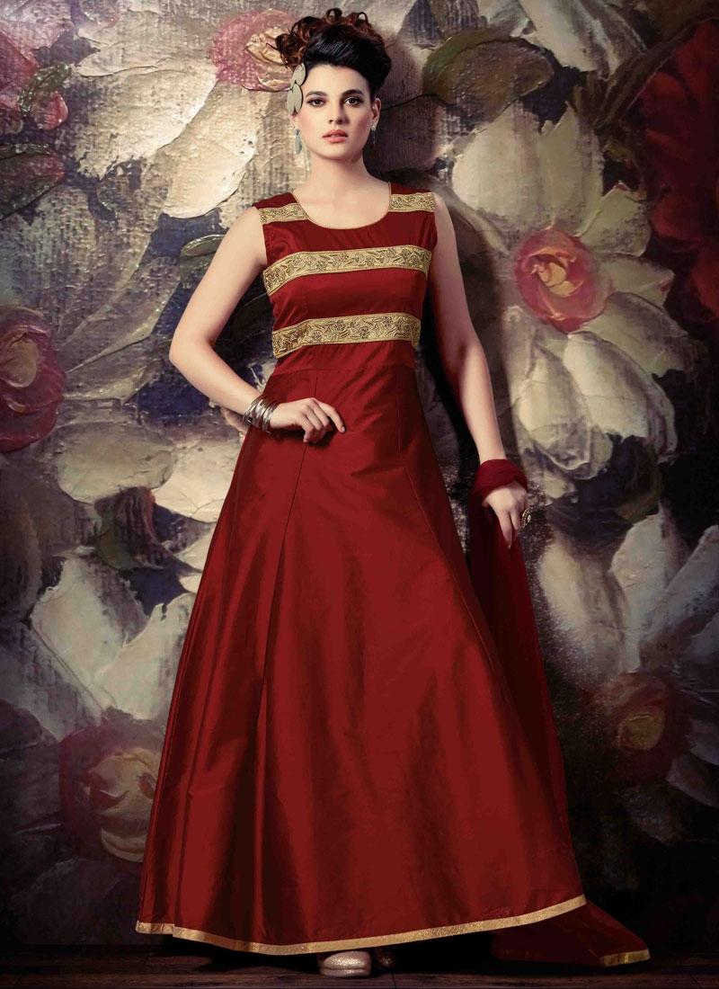 Vehemently Uppada Silk Ankle Length Readymade Designer Salwar Suit
