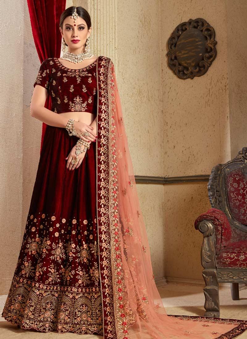 Velvet Designer Classic Lehenga Choli