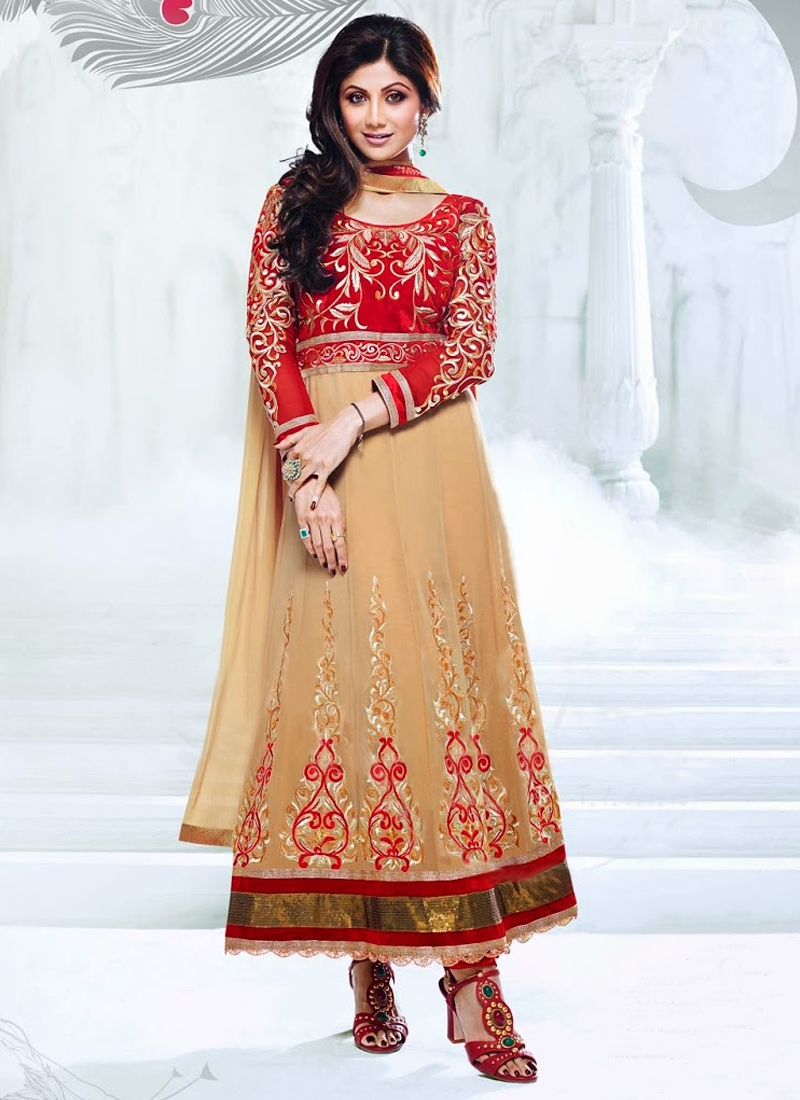Velvet Enhanced Shilpa Shetty Bollywood Suit