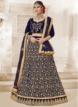 Velvet Lehenga Choli For Party