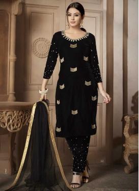 Velvet Pant Style Classic Salwar Suit