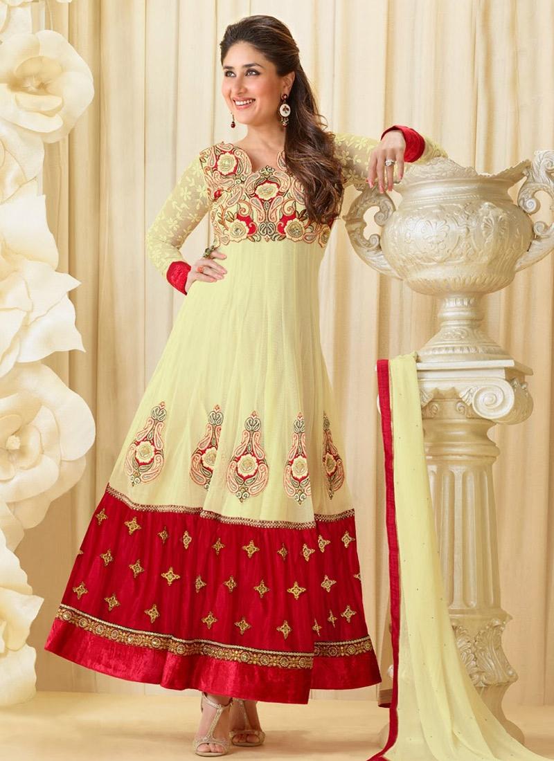 Velvet Patch Enhanced Kareena Kapoor Suit
