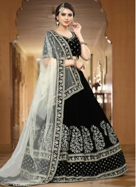 Velvet Trendy Lehenga Choli For Ceremonial