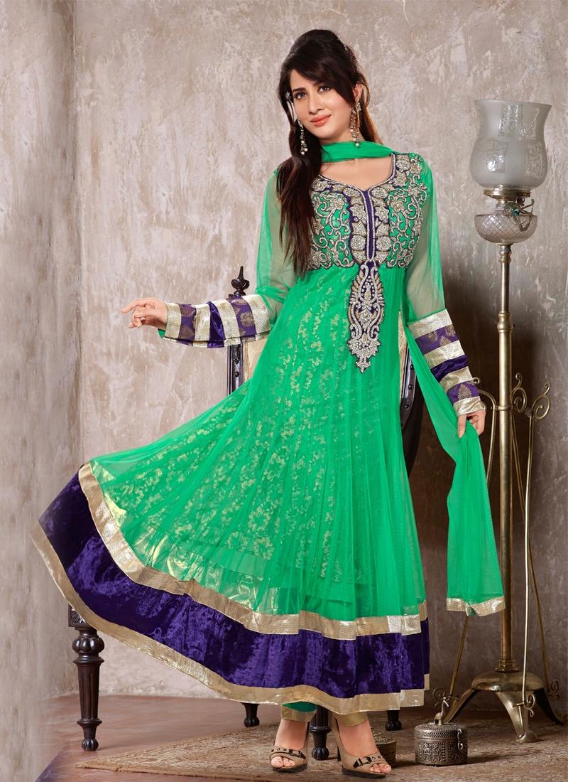 Velvet Work Readymade Designer Salwar Kameez