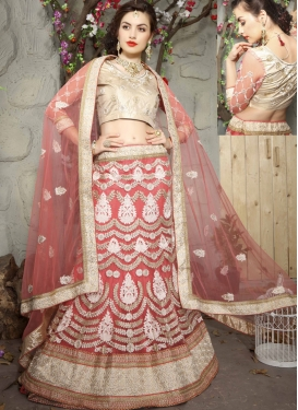 Versatile Booti And Beads Work Bridal Lehenga Choli