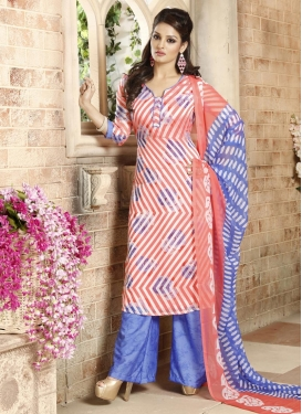 Versatile Brasso Georgette Palazzo Straight Salwar Suit For Ceremonial
