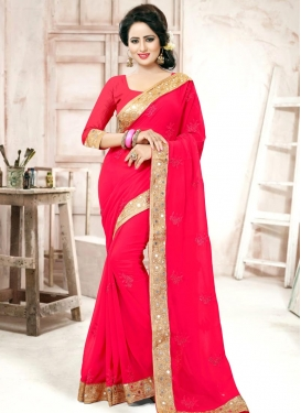Versatile Embroidered Work  Trendy Saree