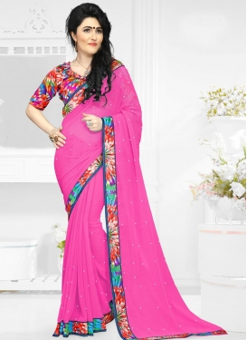 Versatile Faux Georgette Trendy Saree For Casual